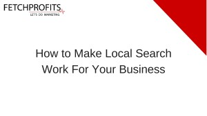 Making Local Search Work
