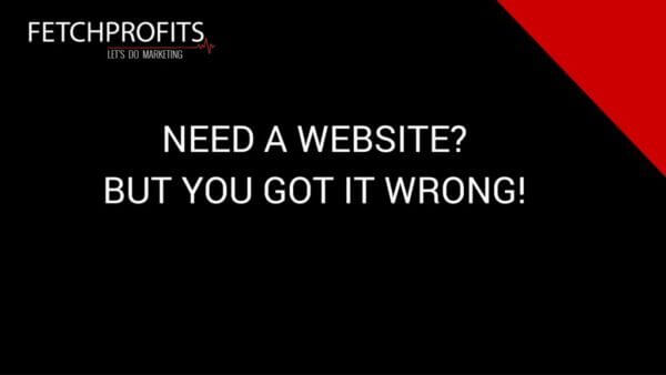 Need a Website? You Are Getting It All Wrong