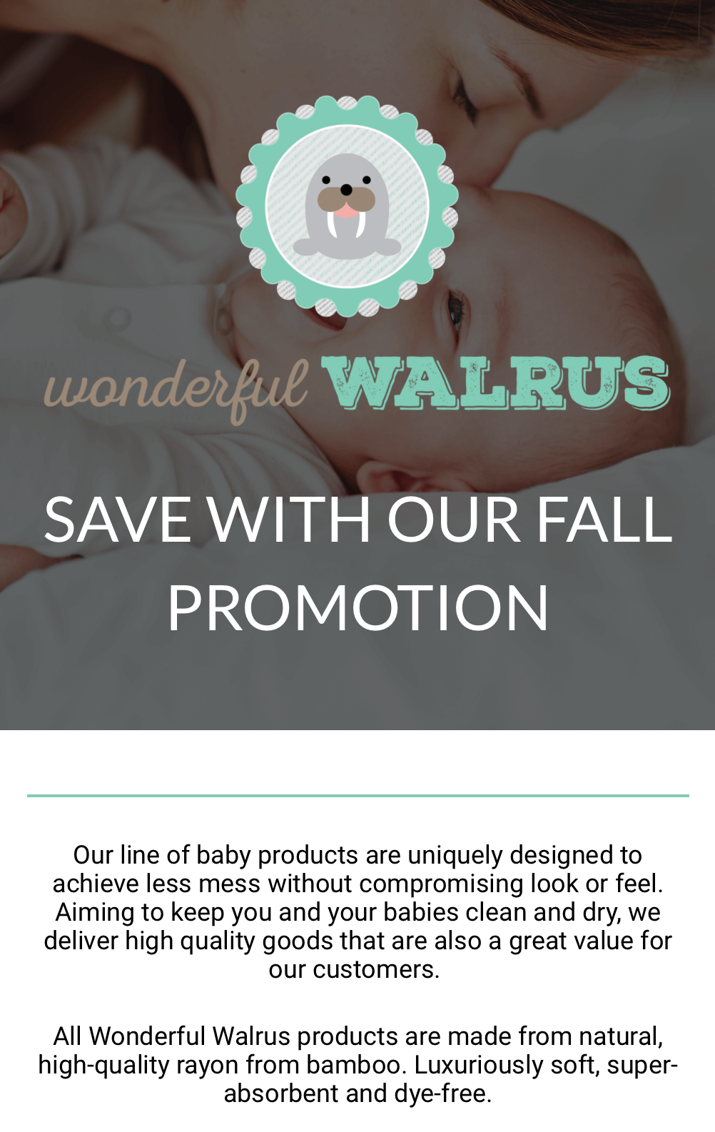 Walrous Landing Page