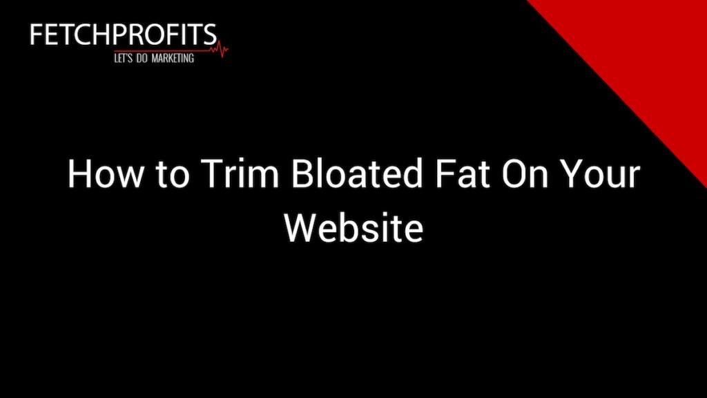 Trim Website Code Bloat