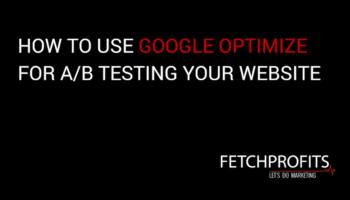 Use Google optimize