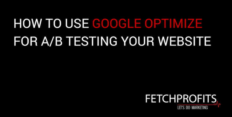 Use Google optimize
