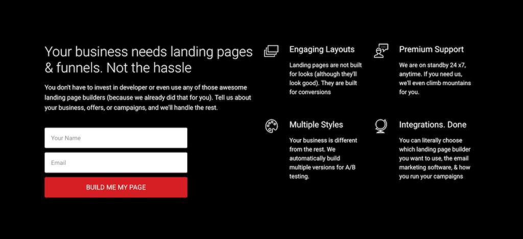 Beyond scroll landing page