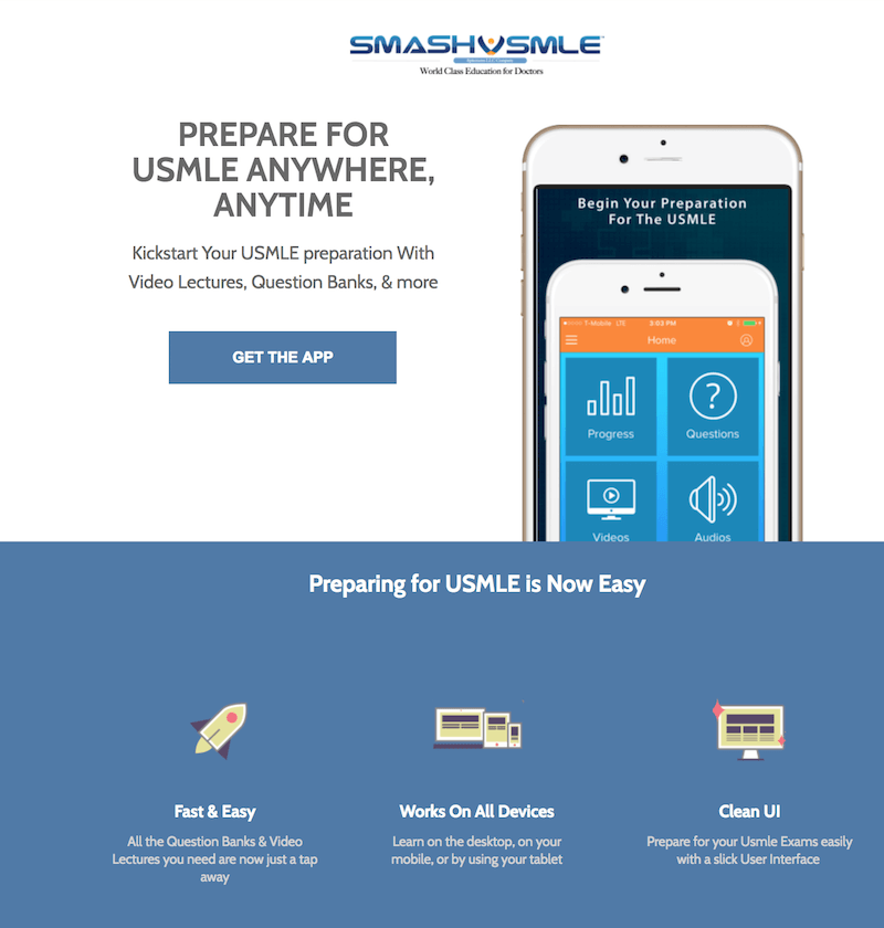 Landing Page example Variant B