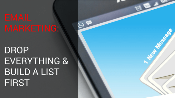 Build Subscriber Lists: Do Email Marketing & Drop Everything Else