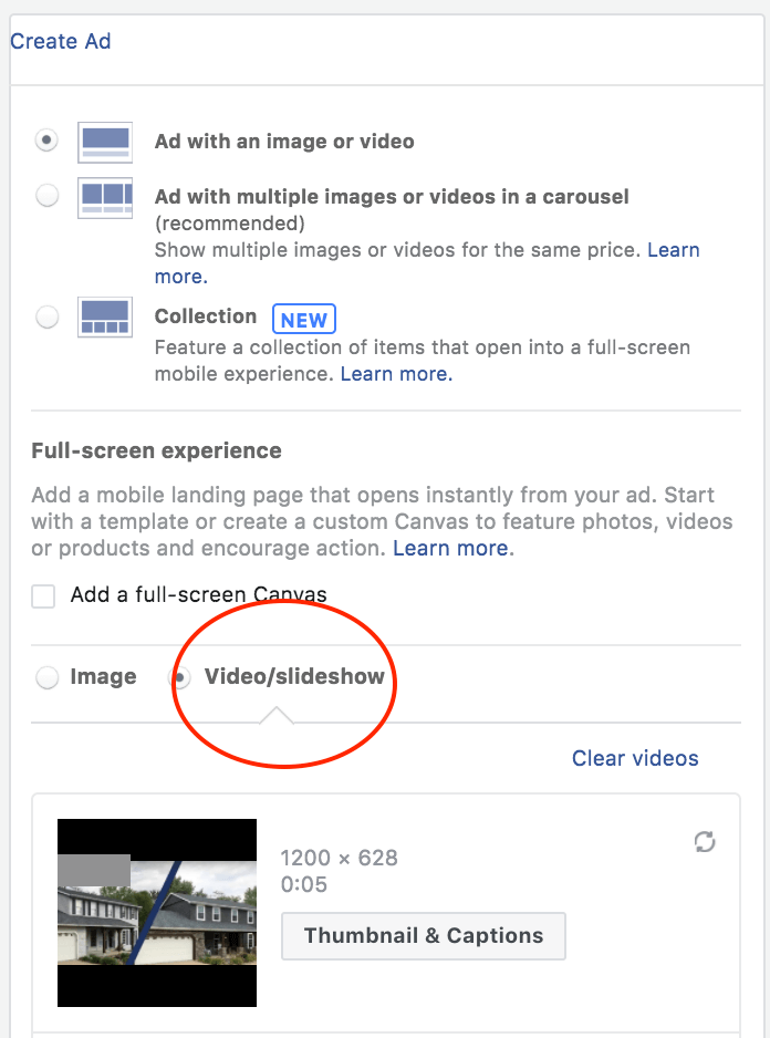 Facebook's In-built Slideshow Tool