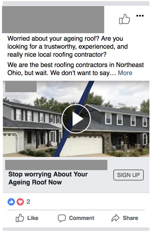Facebook's In-built Slideshow