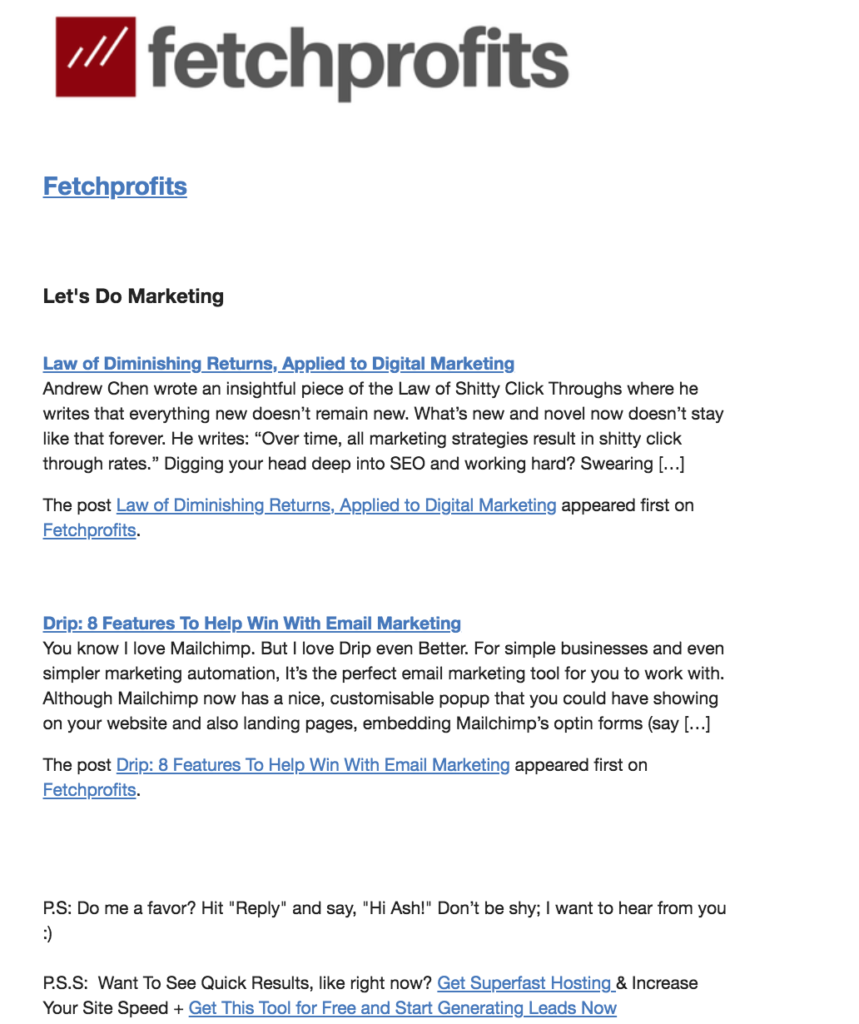 Fetchprofits Email Campaigns