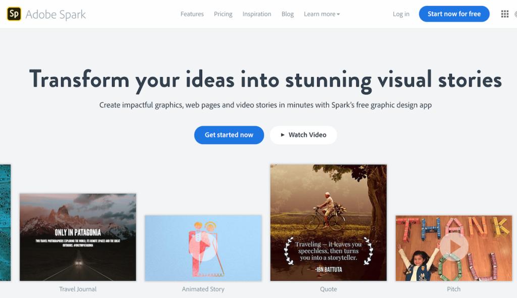 Adobe Spark for Instagram Stories