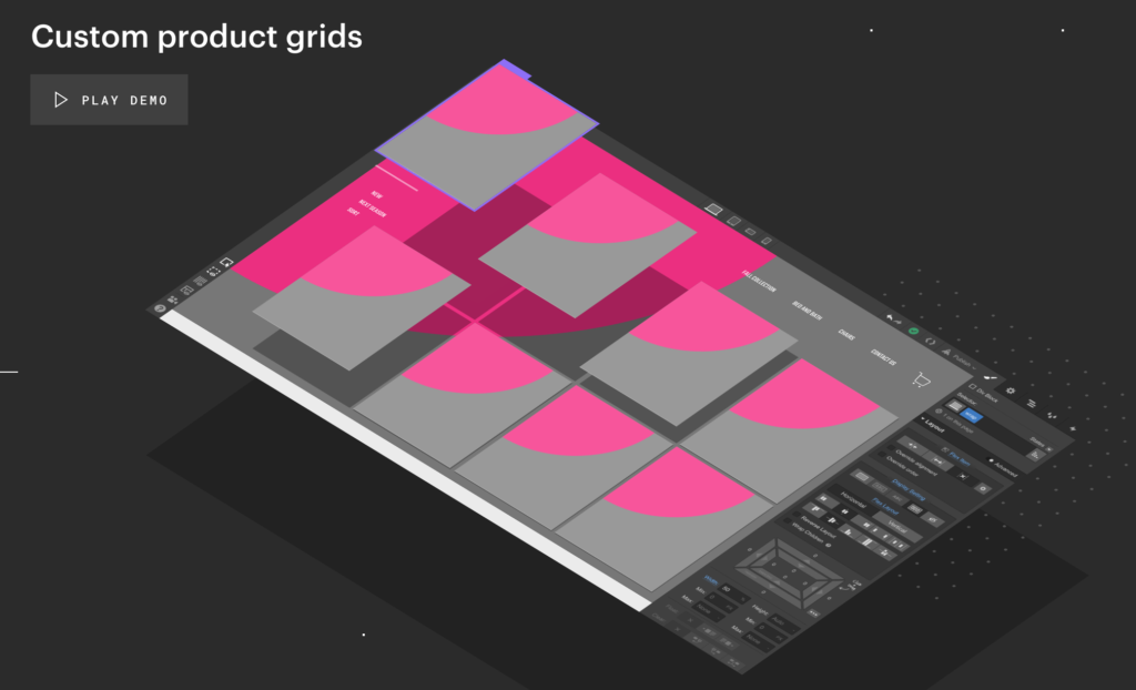 Webflow ecommerce Product Grids