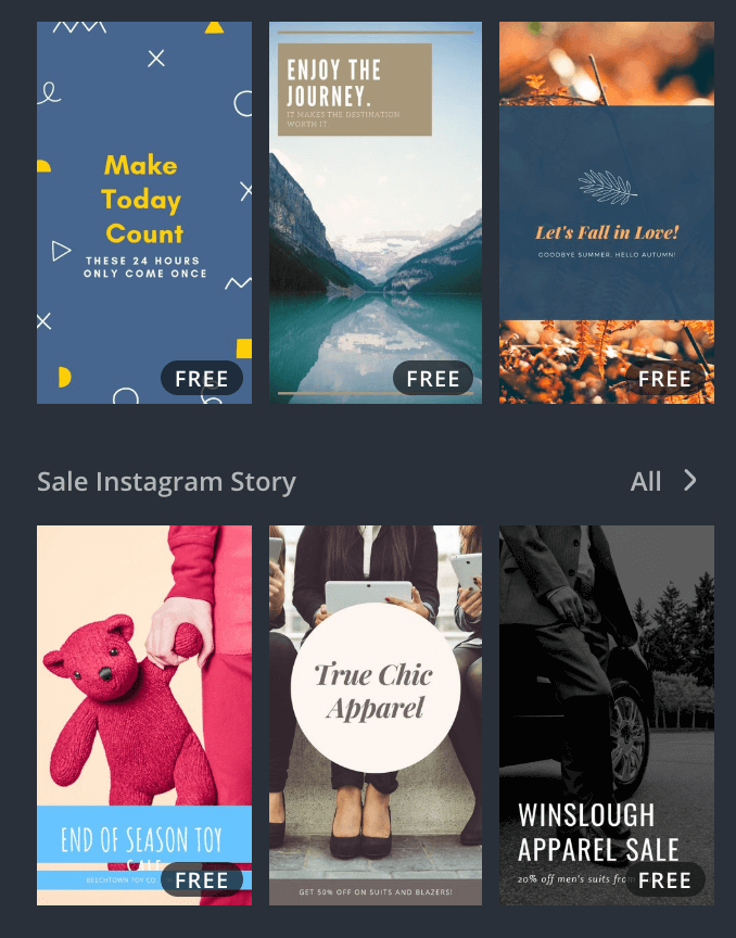 canva Instagram stories