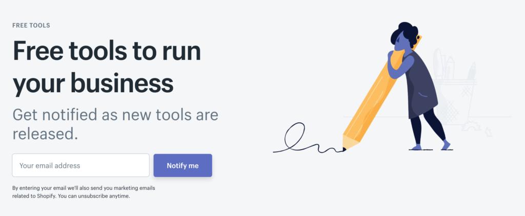 Shopify free tools