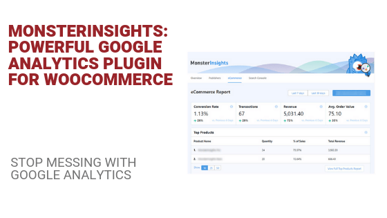 Google analytics for woocommerce