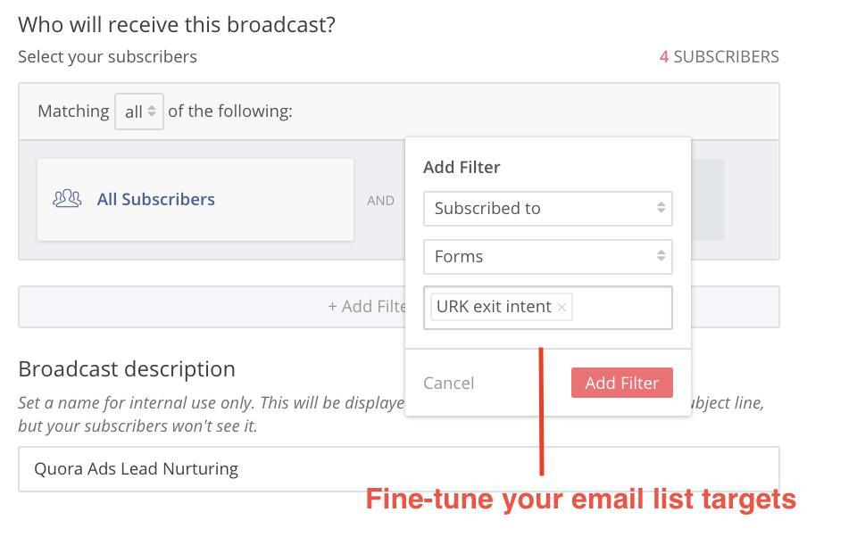 Convertkit email segmentation